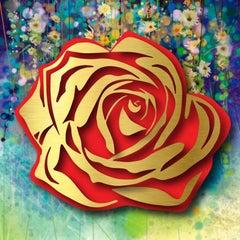 Gold Rose on Floral