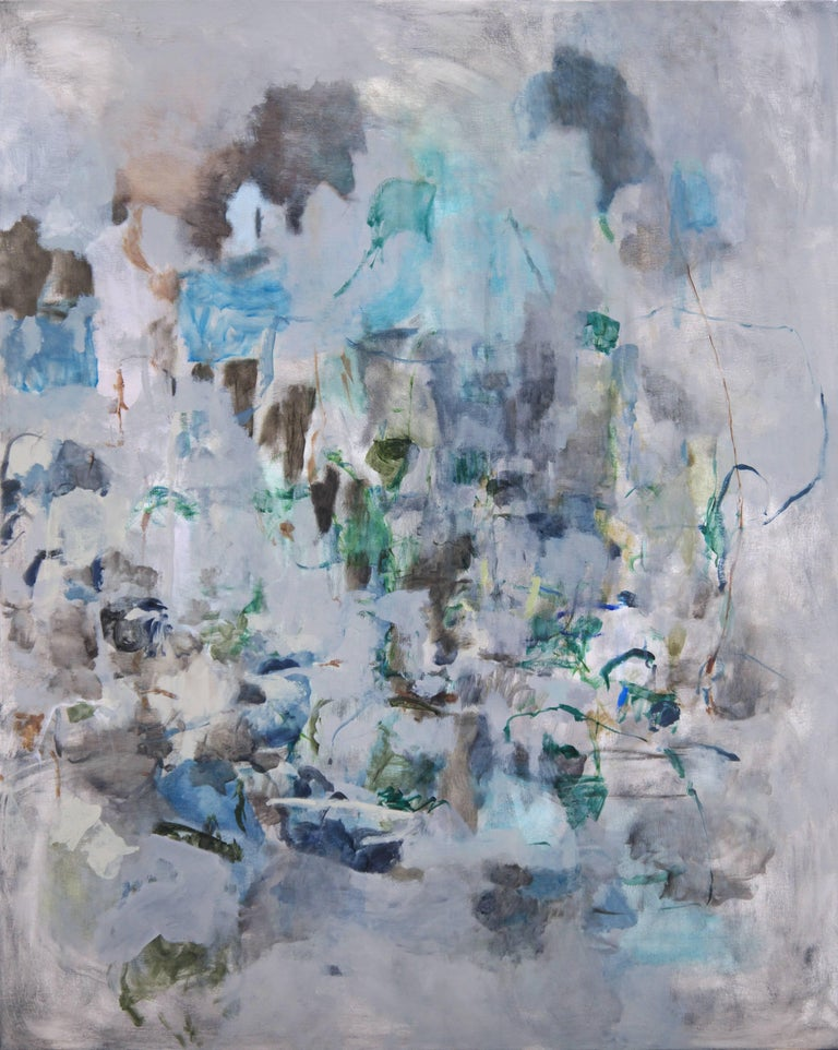 Karl Pilato Abstract Painting - Grey Landscape