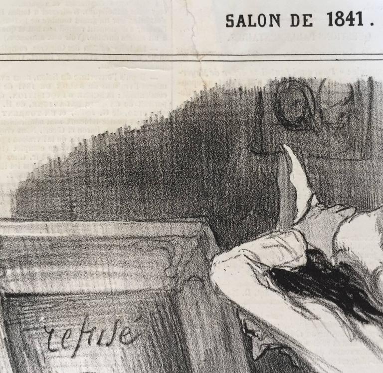 REFUSED BY THE SALON - Barbizon School Print by Honoré Daumier