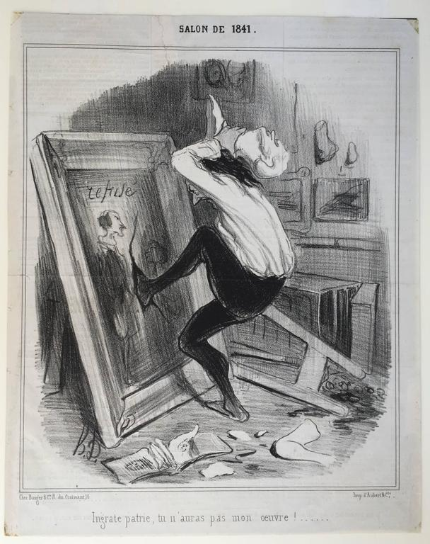 REFUSED BY THE SALON - Print by Honoré Daumier