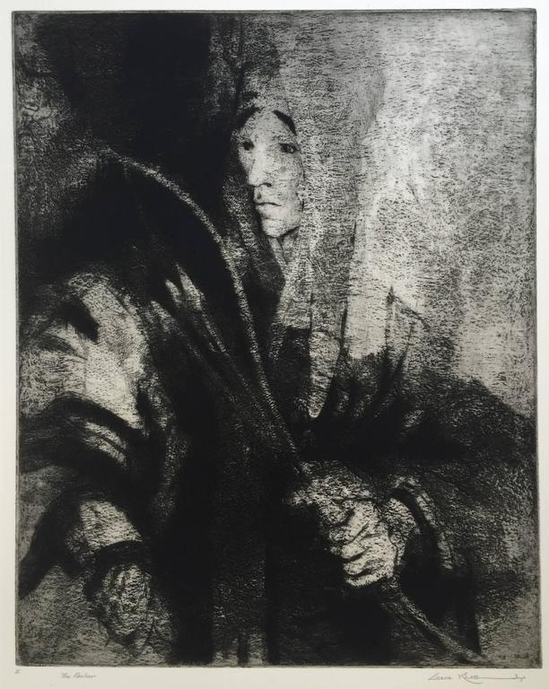 GENE KLOSS (1903 – 1996)            THE ARCHER, 1964 (Kloss 500) Etching, edition 50, 15 x 12.   Signed and            titled in pencil.                                                                                      $950            Southwest,