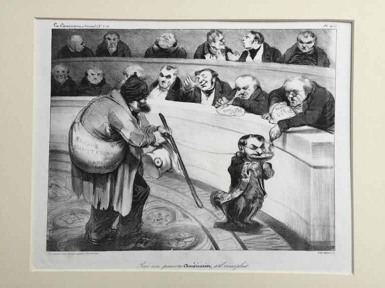 FOR A POOR AMERICAN, PLEASE - Print by Honoré Daumier