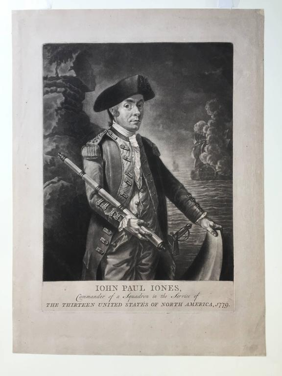 John Paul Jones Commander of a Squadron  -  13 Colonies United States...  - Old Masters Print by Unknown