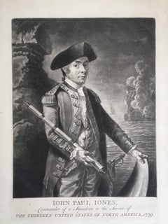 John Paul Jones Commander of a Squadron  -  13 Colonies United States...
