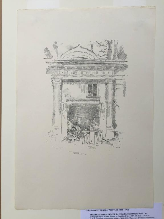 The Whitesmiths, Impresse des Carmelites - Impressionist Print by James Abbott McNeill Whistler