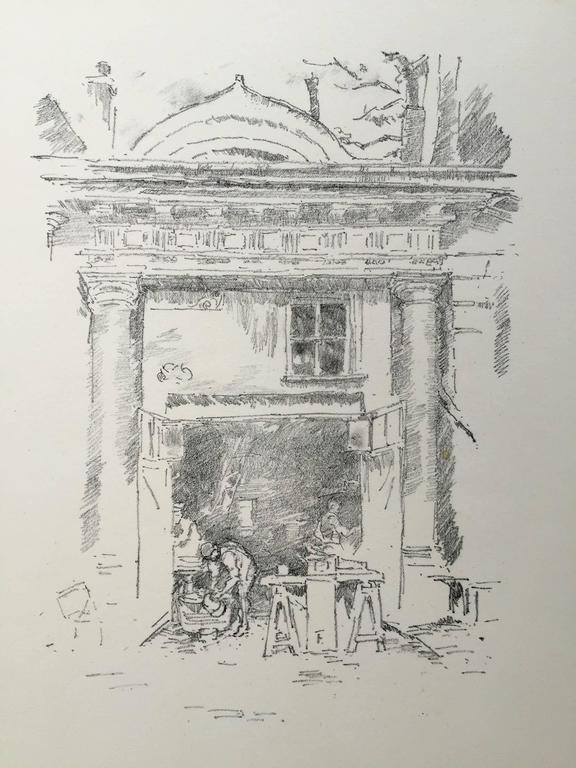 The Whitesmiths, Impresse des Carmelites - Gray Print by James Abbott McNeill Whistler