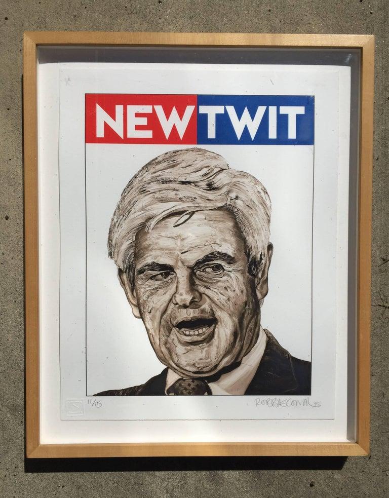 Robert (Robbie) Conal Figurative Print - NEWTWIT