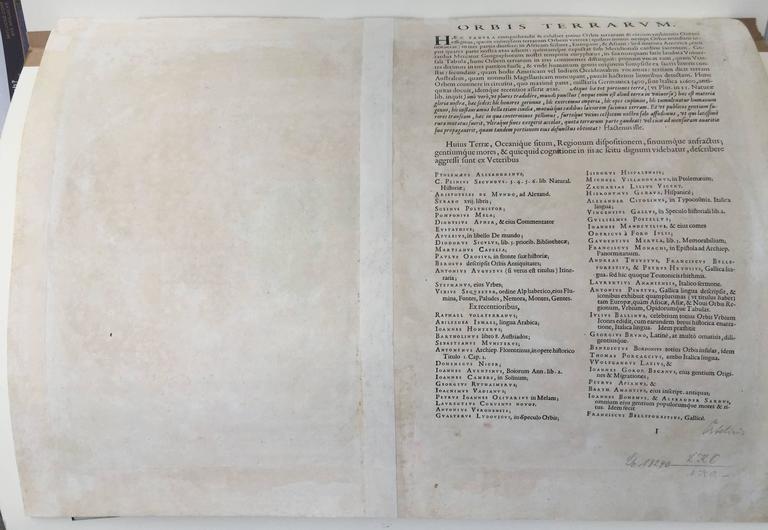 TYPUS ORBIS TERRARUM - Print by Abraham Ortelius