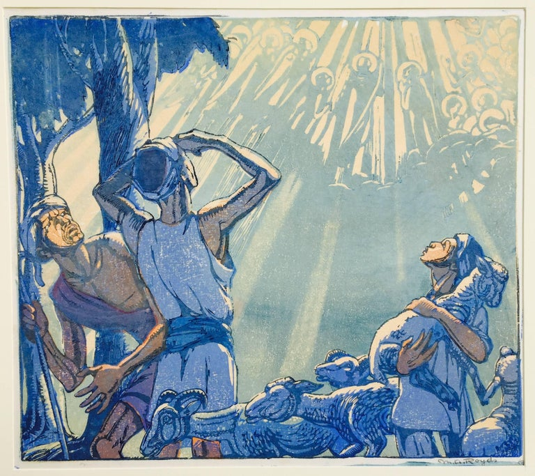 Mabel Allington Royds Print - ANGELS APPEARING TO THE SHEPARDS