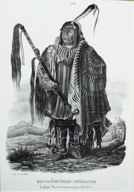 Karl Bodmer - EIN MONITARI INDIANER -  1