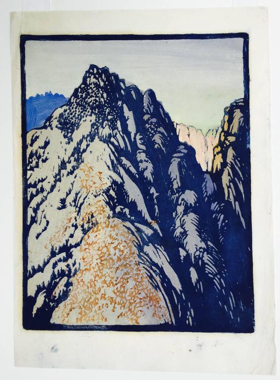DESERT BARRIER - Print by Frances H. Gearhart