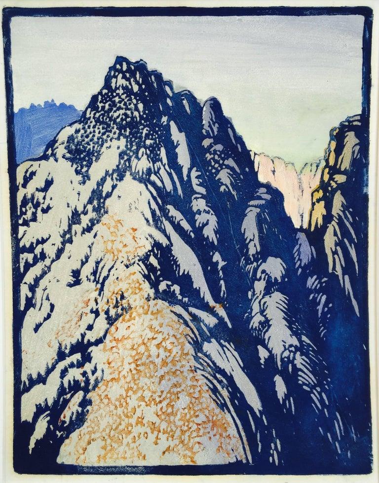 Frances H. Gearhart Landscape Print - DESERT BARRIER