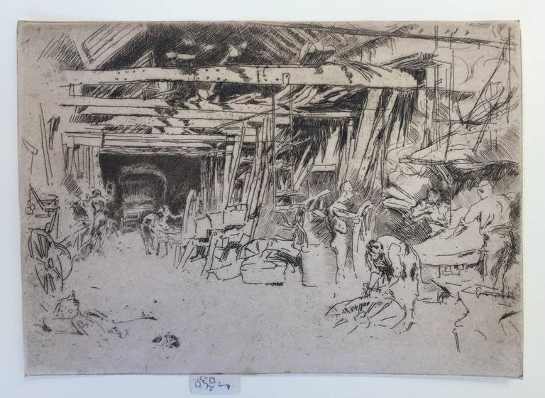 James Whistler Wheelwright Print At 1stdibs