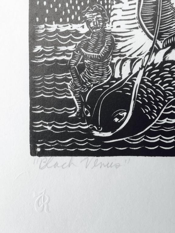BLACK VENUS - American Modern Print by Margaret Taylor Goss Burroughs