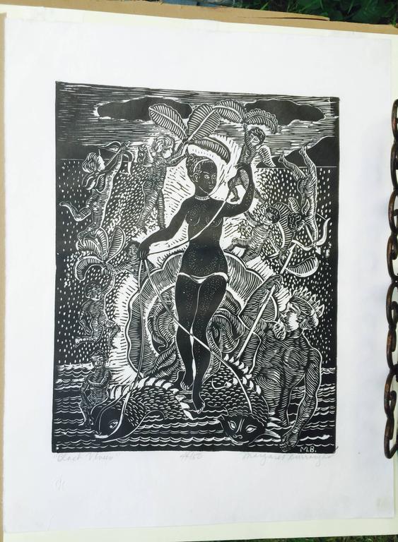BLACK VENUS - Black Figurative Print by Margaret Taylor Goss Burroughs