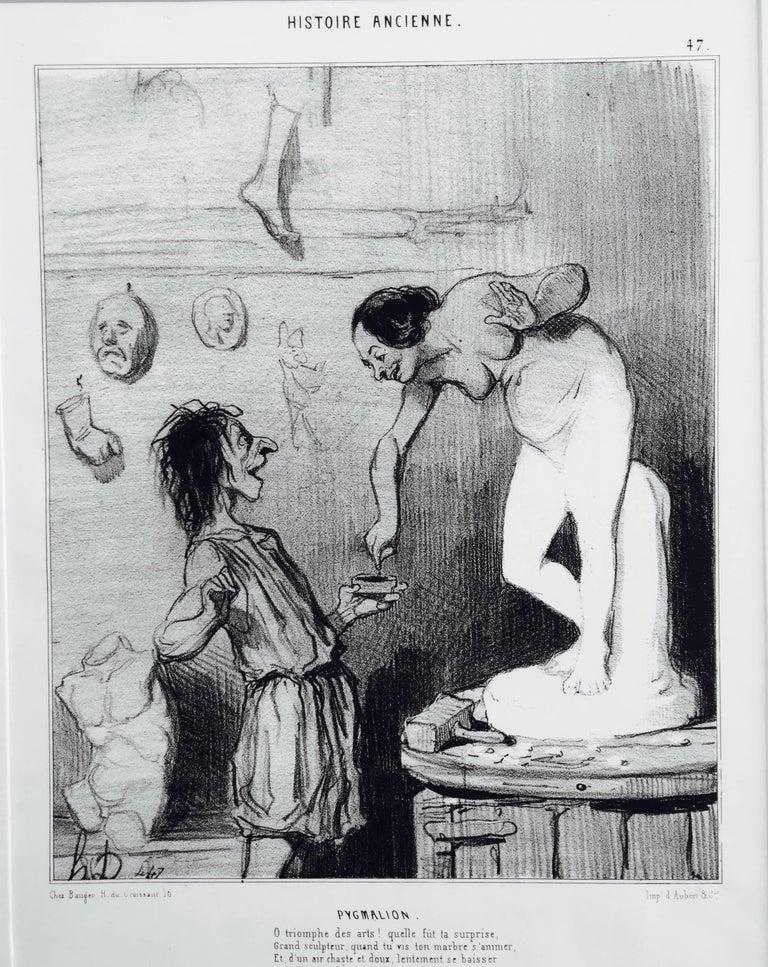 Honoré Daumier Figurative Print - PYGMALION