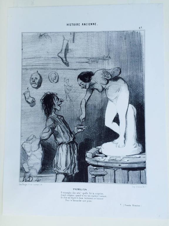 PYGMALIAN - Print by Honoré Daumier