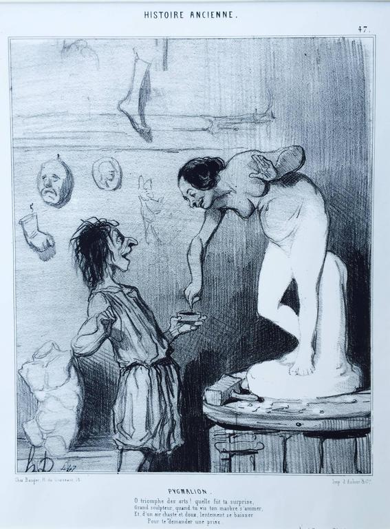 PYGMALIAN - Barbizon School Print by Honoré Daumier