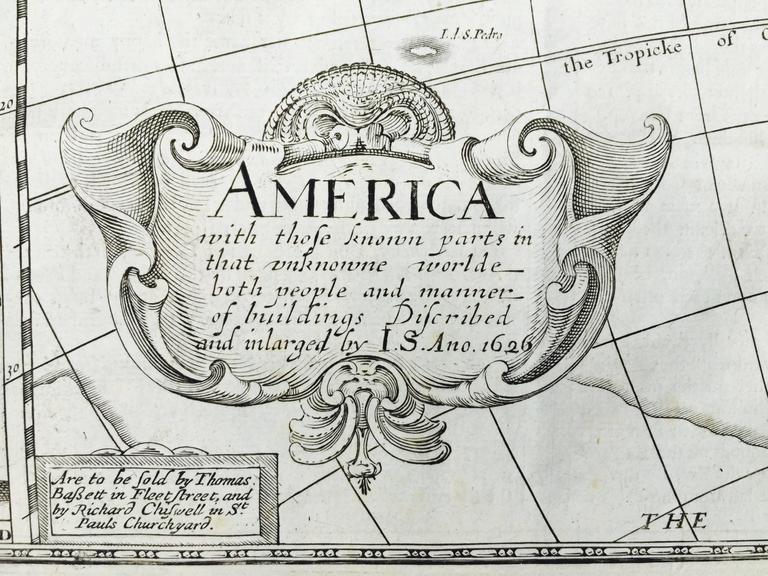 AMERICA - Print by John Speed