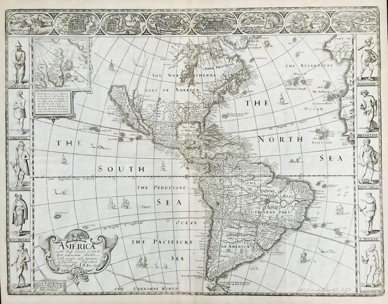 John Speed Landscape Print - AMERICA