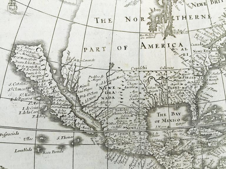 IMPORTANT AMERICAN MAP  - ONE OF THE FIRST TO SHOW CALIFORNIA as an ISLAND  JOHN SPEED (1552-1629)            AMERICA - With Those Known Parts In That Unknown Worlde (sic),           1626-(76)           (Burden 217 iv/iv) Engraving, uncolored.