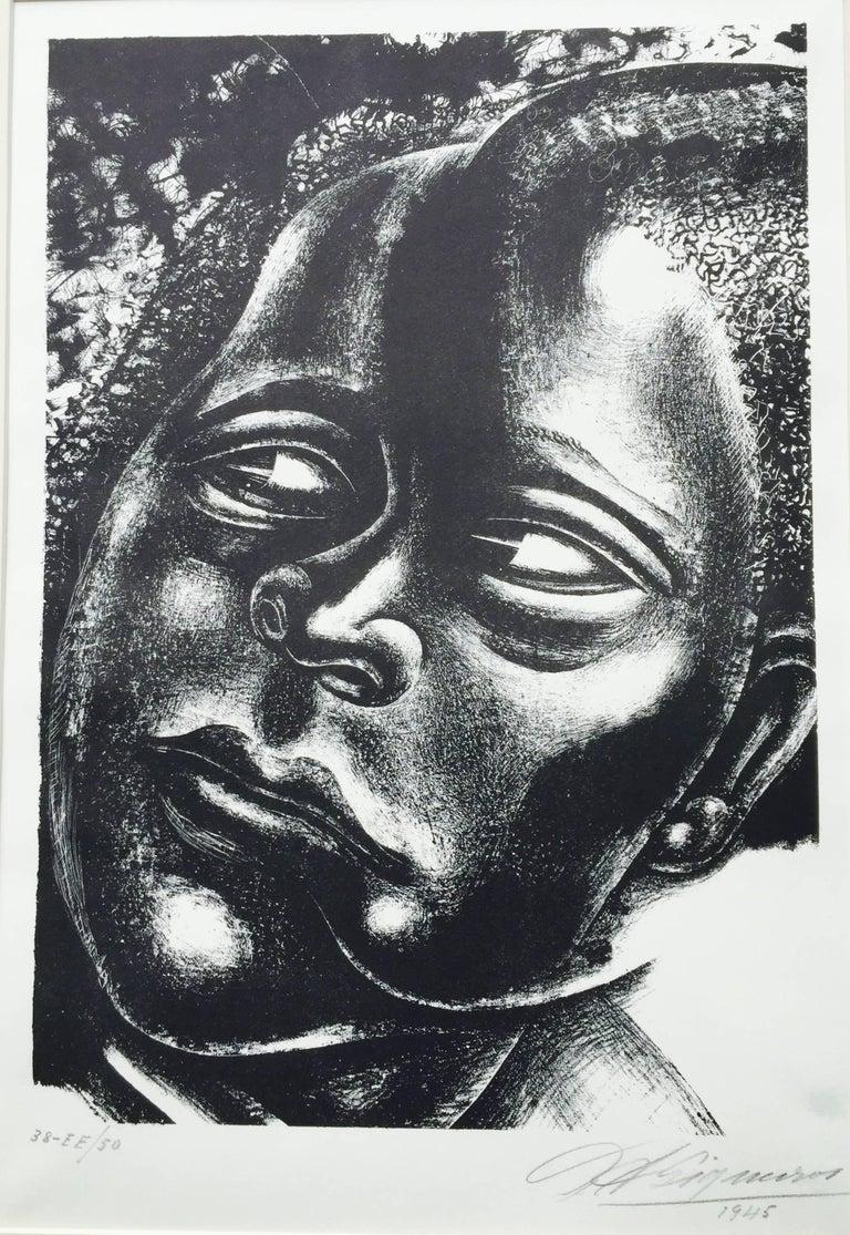 David Alfaro Siqueiros Figurative Print - DAMA NEGRA