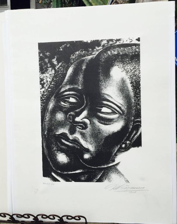 DAMA NEGRA - Print by David Alfaro Siqueiros