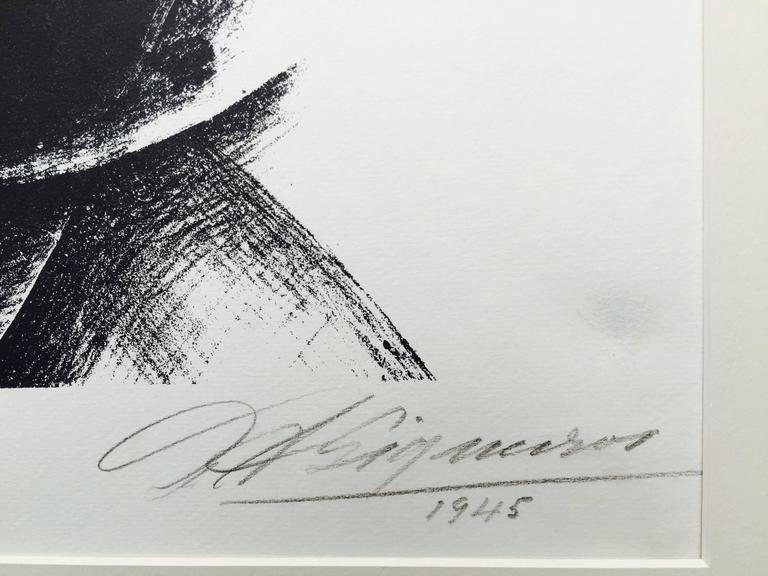 DAMA NEGRA - Modern Print by David Alfaro Siqueiros