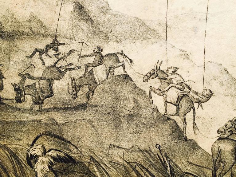 Rare Gold Rush Caricature - Crossing Panama to California  For Sale 2