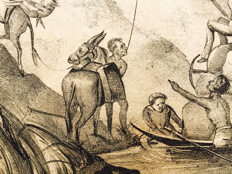 Rare Gold Rush Caricature - Crossing Panama to California  For Sale 5