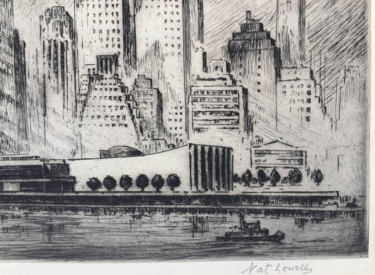 UNITED NATIONS BUILDING, NEW YORK - Print by Nat Lowell