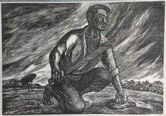 POSTER SIZE MEXICAN LINOCUT - DESPERTAR (Awakening)