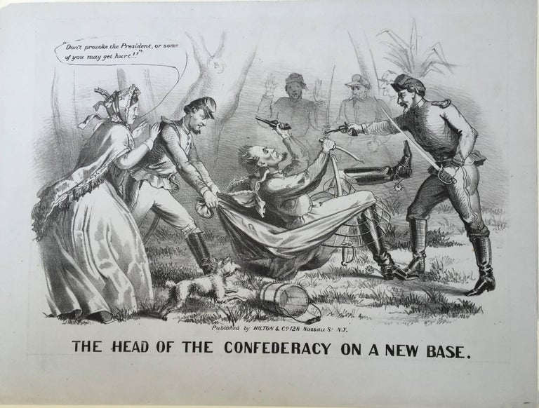 THE HEAD OF THE CONFEDERACY ON A NEW BASE - Print by Unknown