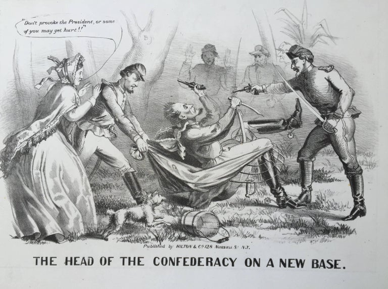 THE HEAD OF THE CONFEDERACY ON A NEW BASE - American Realist Print by Unknown