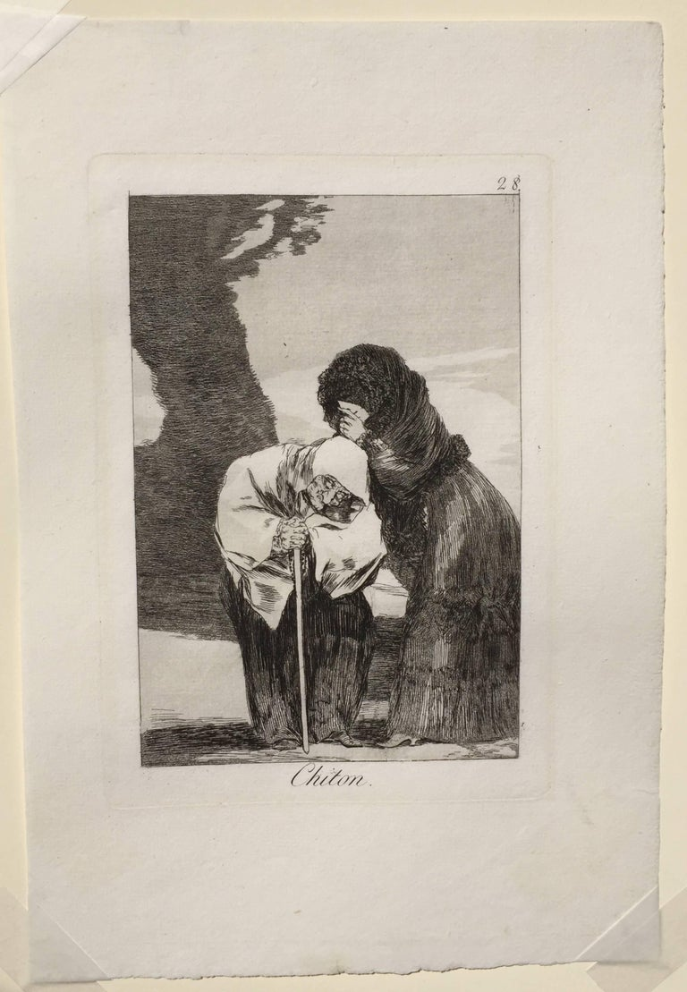 Chiton - Old Masters Print by Francisco Goya