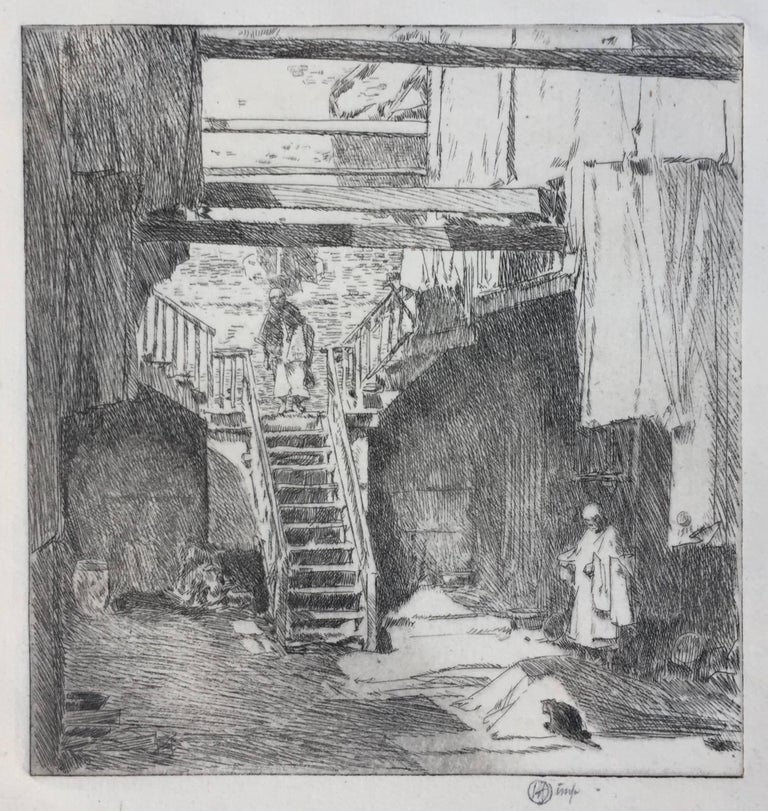 Childe Hassam Print - OLD CHINATOWN - SAN FRANCISCO