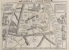 16th c. woodcut map - Tabula Asiae Vlll