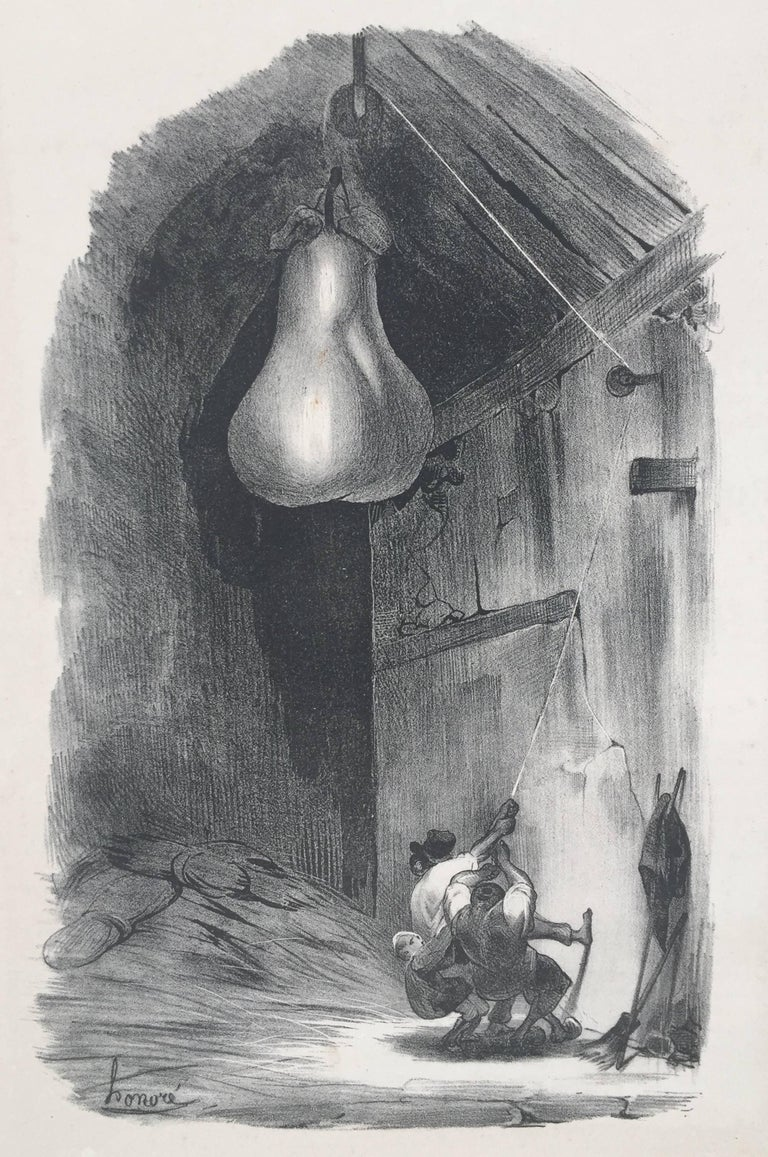 Honoré Daumier Figurative Print - AH! HIS! - (Heave Ho)