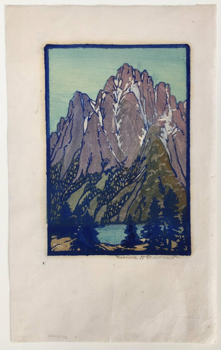LONELY SIERRA - Print by Frances H. Gearhart