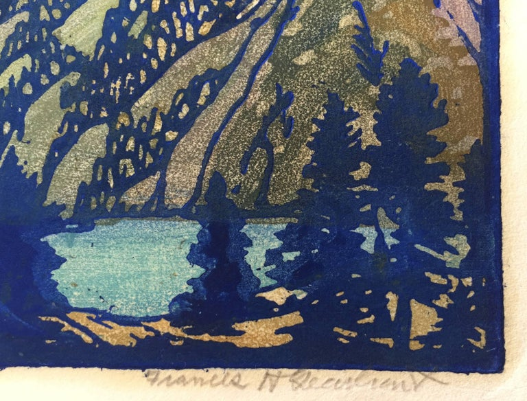 LONELY SIERRA - American Impressionist Print by Frances H. Gearhart