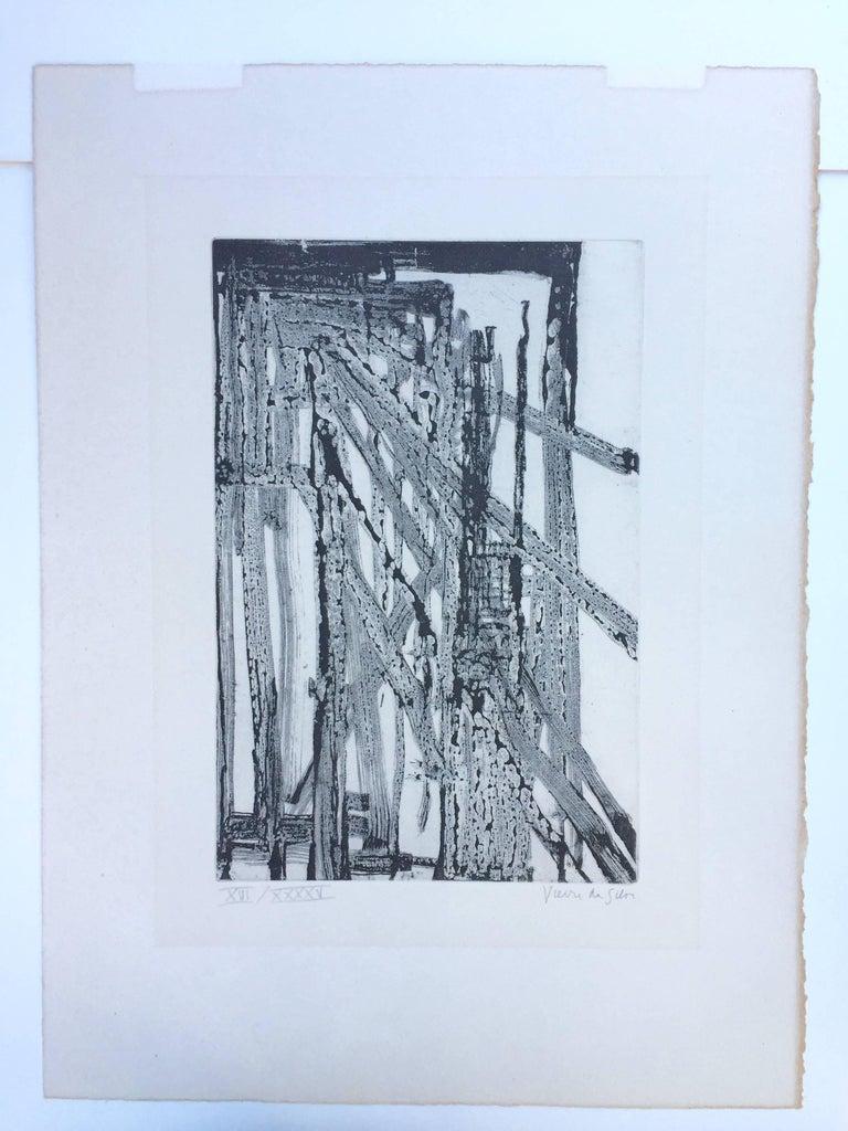 UNTITLED - Gray Abstract Print by Maria Helena Vieira da Silva