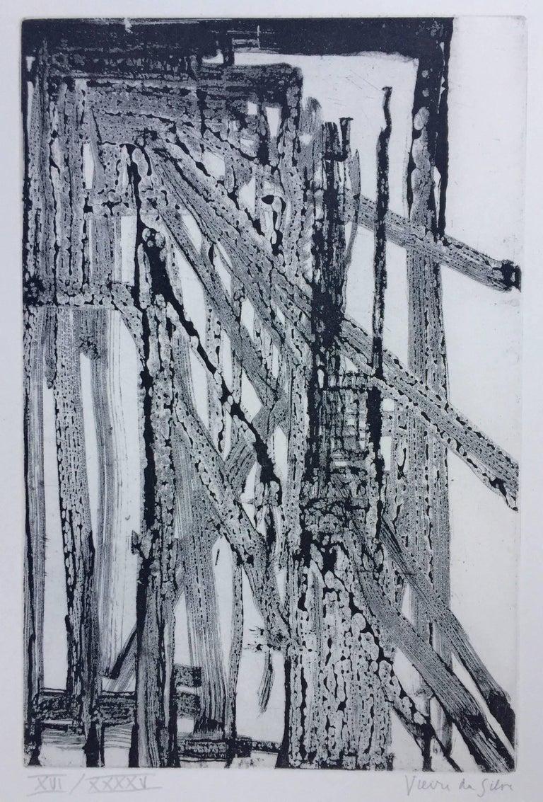 Maria Helena Vieira da Silva Abstract Print - UNTITLED