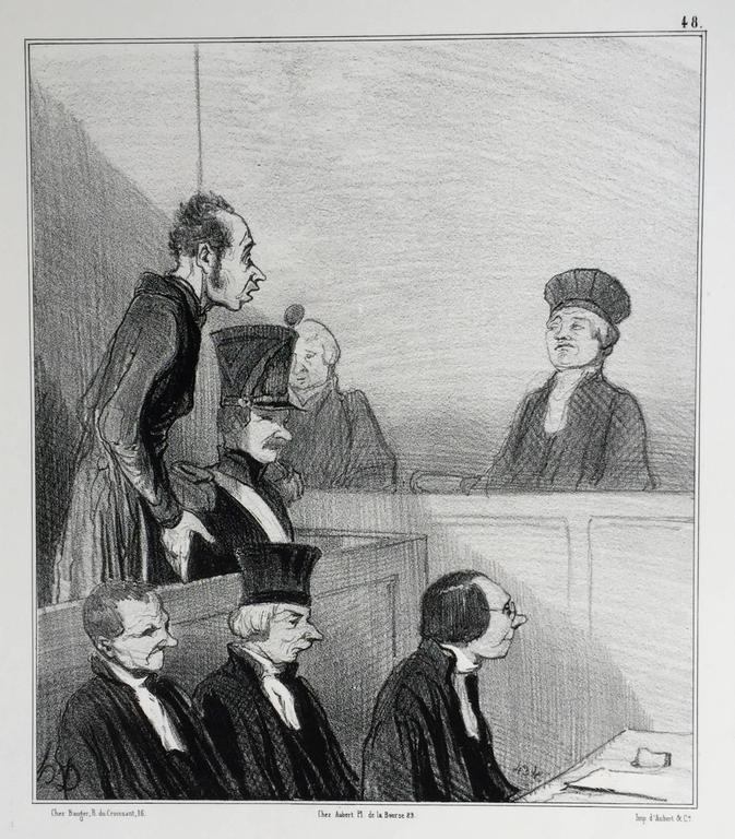 Emotions Parisiennes - Barbizon School Print by Honoré Daumier