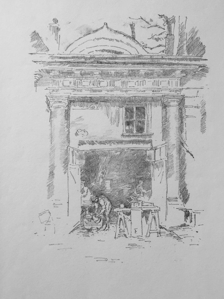 James Abbott McNeill Whistler Print - The Whitesmiths, Impresse des Carmelites