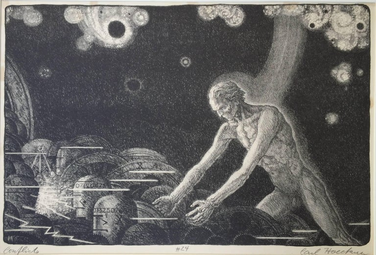 Carl Hoeckner Figurative Print - CONFLICTS