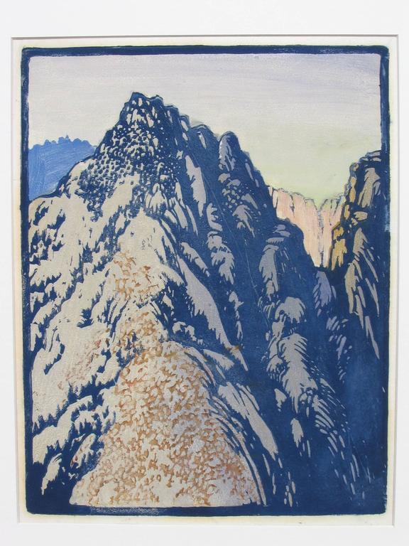 DESERT BARRIER - Gray Landscape Print by Frances H. Gearhart