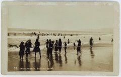 c.1892 SANTA MONICA BATHING SCENE