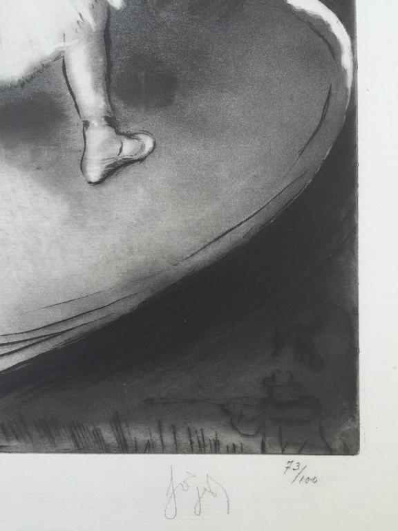 PETITE BALLERINE - Impressionist Print by Louis Legrand