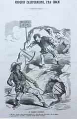 CALIFORNIA 1850 GOLD RUSH CARICATURE