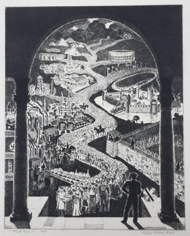 Ralph Fabri Print -  WHAT NOW?  -  (Political Dilemma From 1945)